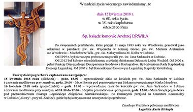 Pogrzeb Ks. Kanonika Andrzeja Drwiły