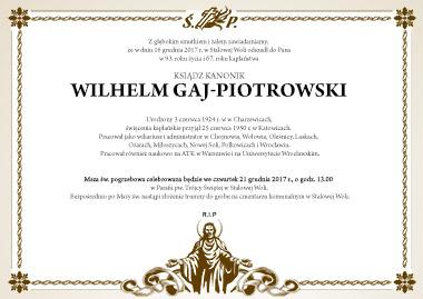Pogrzeb Ks. Wilhelma Gaj-Piotrowskiego