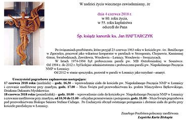 Pogrzeb Ks. Kanonika Jana Haftarczyka