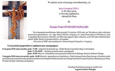 Pogrzeb Ks. Prałata Ryszarda Kukulskiego