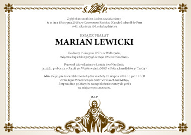 Pogrzeb Ks. Kanonika Mariana Lewickiego
