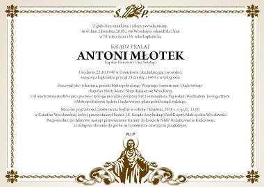 Pogrzeb Ks. Prałata Antoniego Młotka