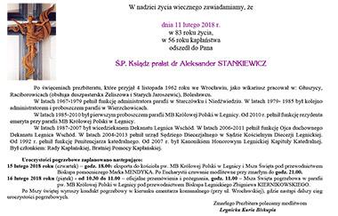 Pogrzeb Ks. Aleksandra Stankiewicza