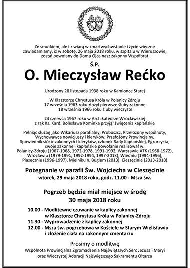 Pogrzeb O. Mieczysława Rećko sscc