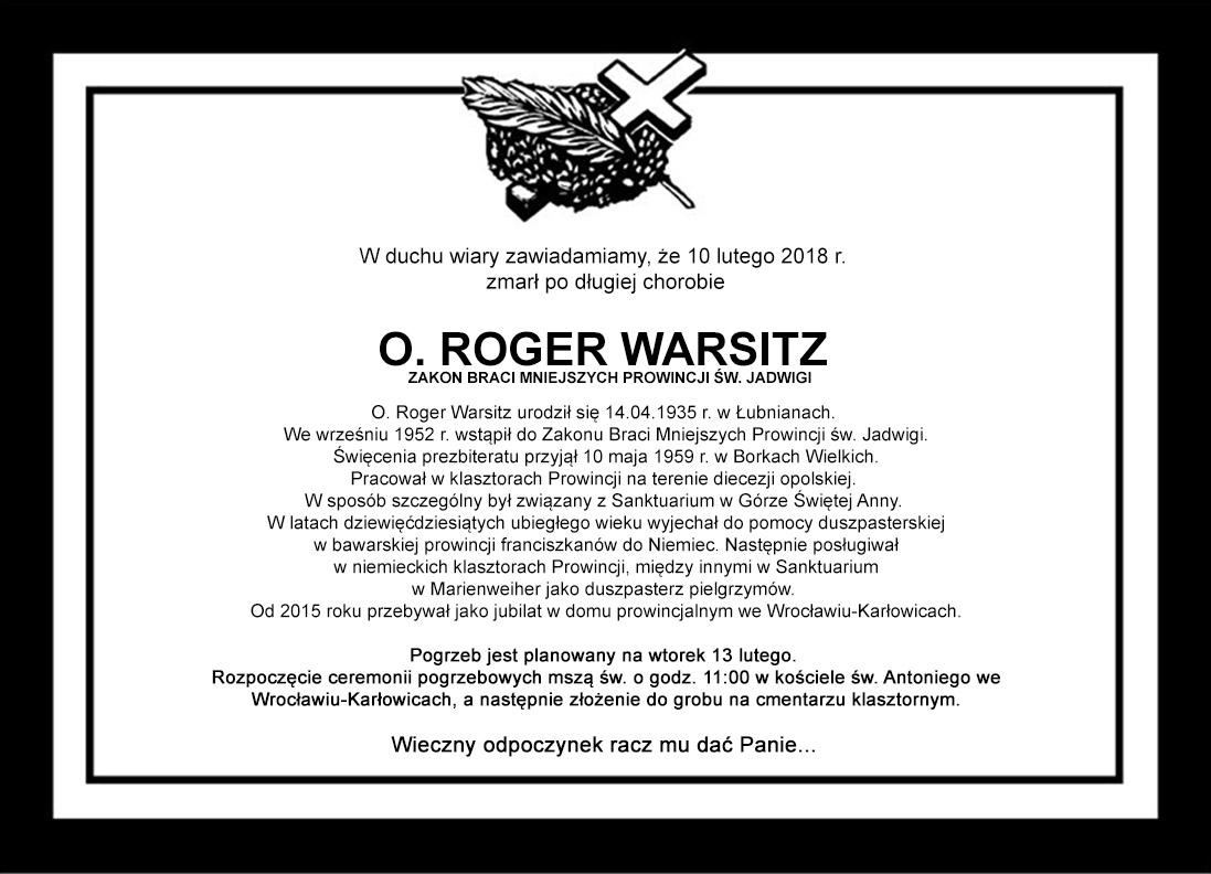 Pogrzeb O. Rogera Warsitza